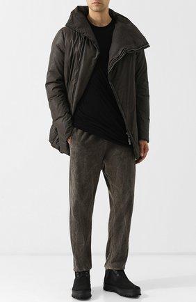 Мужские высокие ботинки из нубука PREMIATA черного цвета, арт. 31163/ANDER | Фото 2