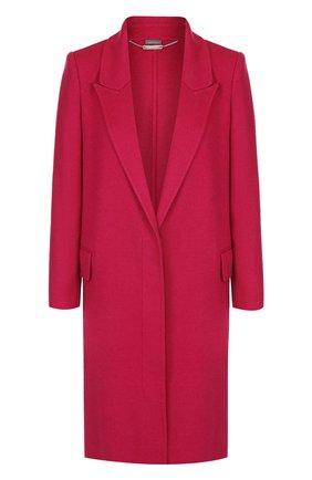 Однотонное пальто прямого кроя из смеси шерсти и кашемира   Фото №1