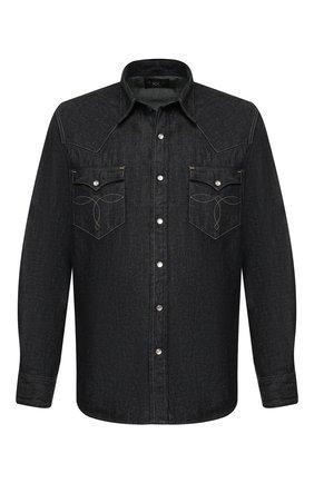 Джинсовая рубашка на кнопках RRL синяя | Фото №1