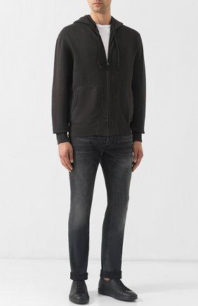 Мужской хлопковая толстовка на молнии с капюшоном RRL черного цвета, арт. 782704106 | Фото 2