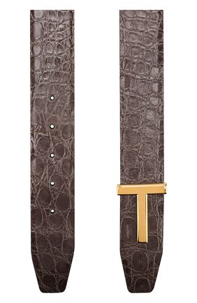 Мужской ремень из кожи каймана TOM FORD светло-коричневого цвета, арт. TB178T-A19/CYAC | Фото 2