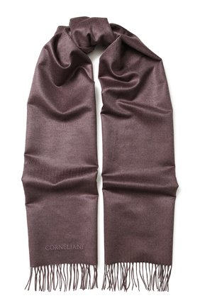 Шелковый шарф с бахромой | Фото №1
