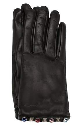 Кожаные перчатки Valentino Garavani с декоративной отделкой | Фото №1
