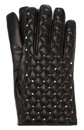 Кожаные перчатки Valentino Garavani Rockstud Spike | Фото №1