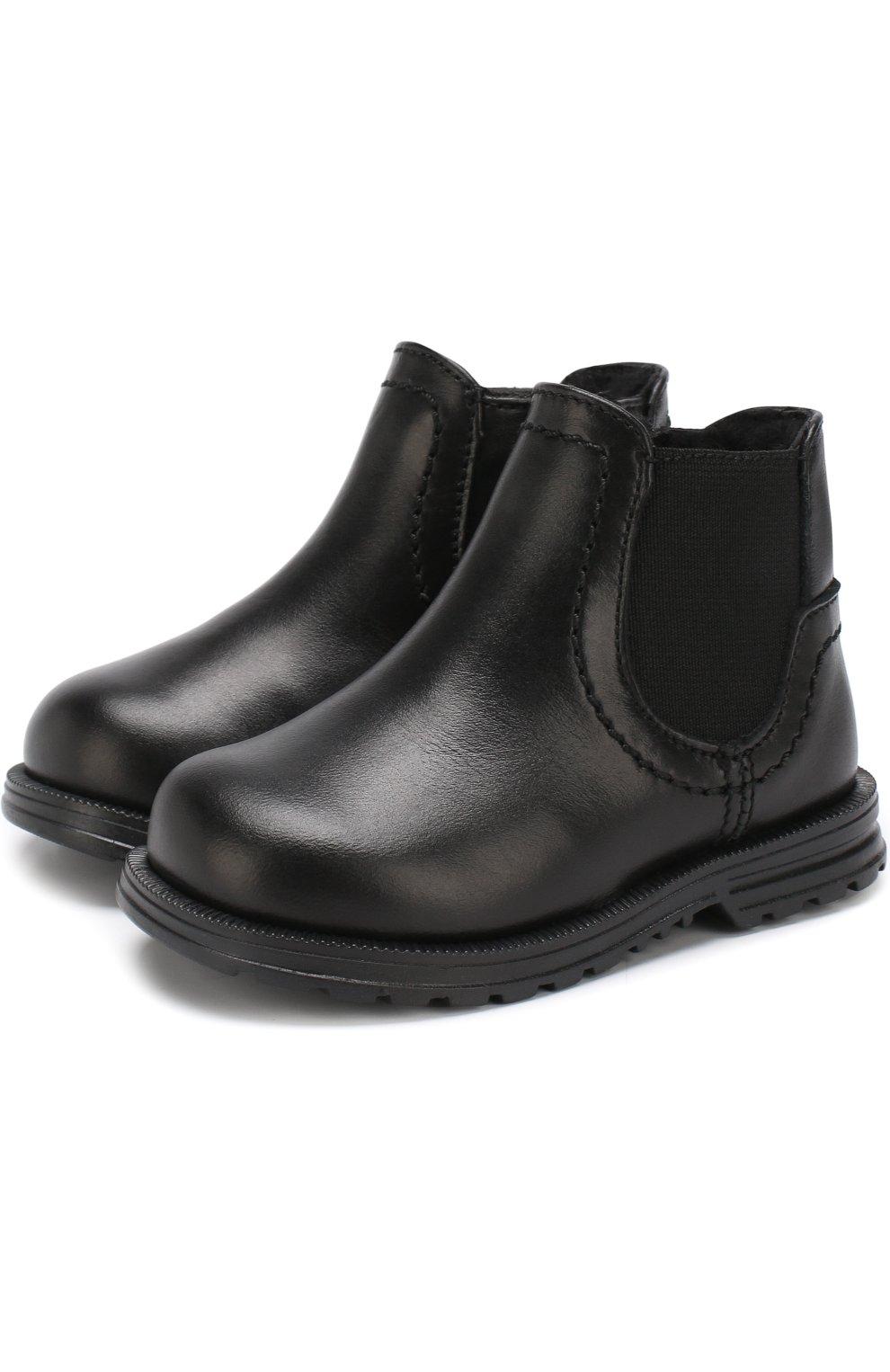012329389f6d Кожаные ботинки с эластичной вставкой и внутренней меховой отделкой   Фото  №1