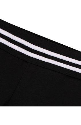 Детские хлопковые леггинсы Givenchy черного цвета | Фото №3