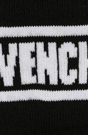 Детские хлопковые гольфы Givenchy черного цвета   Фото №2
