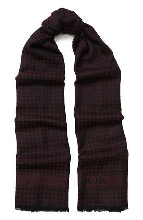 Мужской кашемировый шарф с бахромой DOLCE & GABBANA бордового цвета, арт. GQ213E/G2JAE | Фото 1