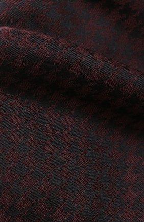 Мужской кашемировый шарф с бахромой DOLCE & GABBANA бордового цвета, арт. GQ213E/G2JAE | Фото 2