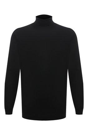 Мужской шерстяная водолазка BOSS черного цвета, арт. 50392083 | Фото 1