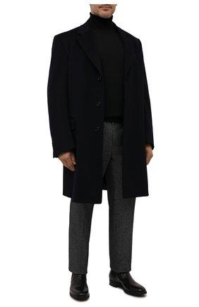 Мужской шерстяная водолазка BOSS черного цвета, арт. 50392083 | Фото 2