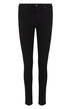 Женские однотонные джинсы-скинни AG черного цвета, арт. SPB1379/SBA | Фото 1