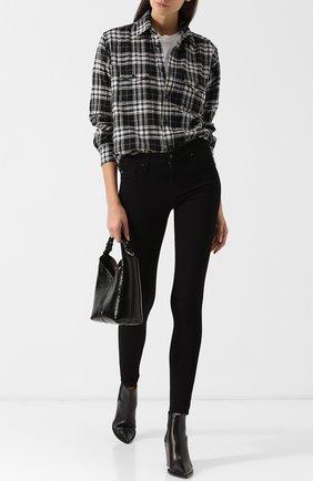 Однотонные джинсы-скинни | Фото №2