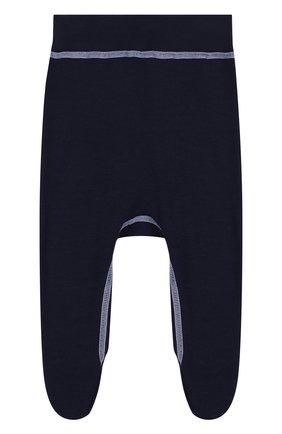 Ползунки Soft из шерсти с прострочкой Norveg темно-синего цвета | Фото №1