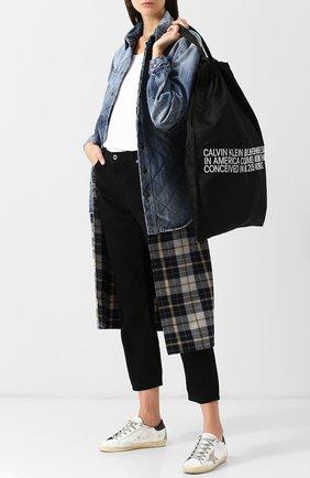 Сумка-тоут из текстиля CALVIN KLEIN 205W39NYC черная | Фото №1
