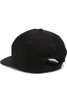 Хлопковая бейсболка с логотипом бренда Iceberg черного цвета   Фото №1
