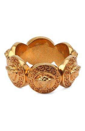 Женское кольцо medusa VERSACE золотого цвета, арт. DG5G412/DJMT | Фото 2 (Статус проверки: Проверена категория, Проверено; Материал: Металл)