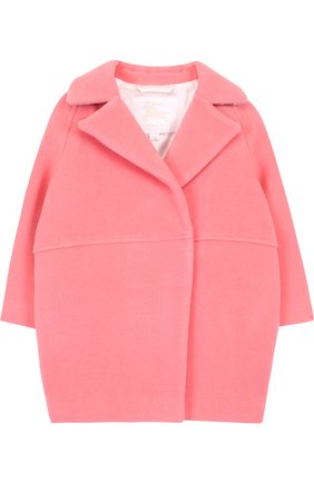 Шерстяное пальто с отложным воротником | Фото №1