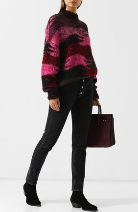 Женские замшевые ботинки lukas на низком каблуке SAINT LAURENT черного цвета, арт. 532860/0NW00 | Фото 2