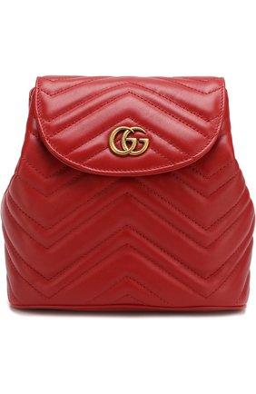 Женский рюкзак gg marmont  GUCCI красного цвета, арт. 528129/DRW4T | Фото 1