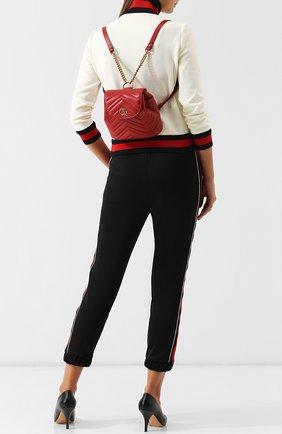 Женский рюкзак gg marmont  GUCCI красного цвета, арт. 528129/DRW4T | Фото 2