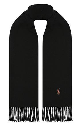 Мужской шерстяной шарф POLO RALPH LAUREN черного цвета, арт. 449727530 | Фото 1