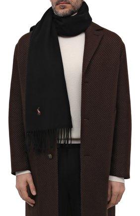 Мужской шерстяной шарф POLO RALPH LAUREN черного цвета, арт. 449727530 | Фото 2