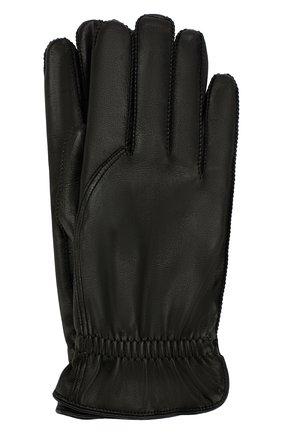 Мужские кожаные перчатки LORO PIANA черного цвета, арт. FAI3252 | Фото 1