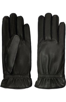 Мужские кожаные перчатки LORO PIANA черного цвета, арт. FAI3252 | Фото 2