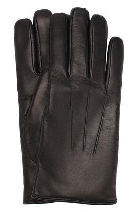 Мужские кожаные перчатки BRIONI черного цвета, арт. 05SD0L/07766 | Фото 1