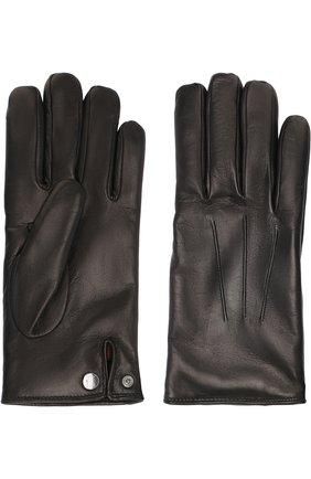 Мужские кожаные перчатки BRIONI черного цвета, арт. 05SD0L/07766 | Фото 2