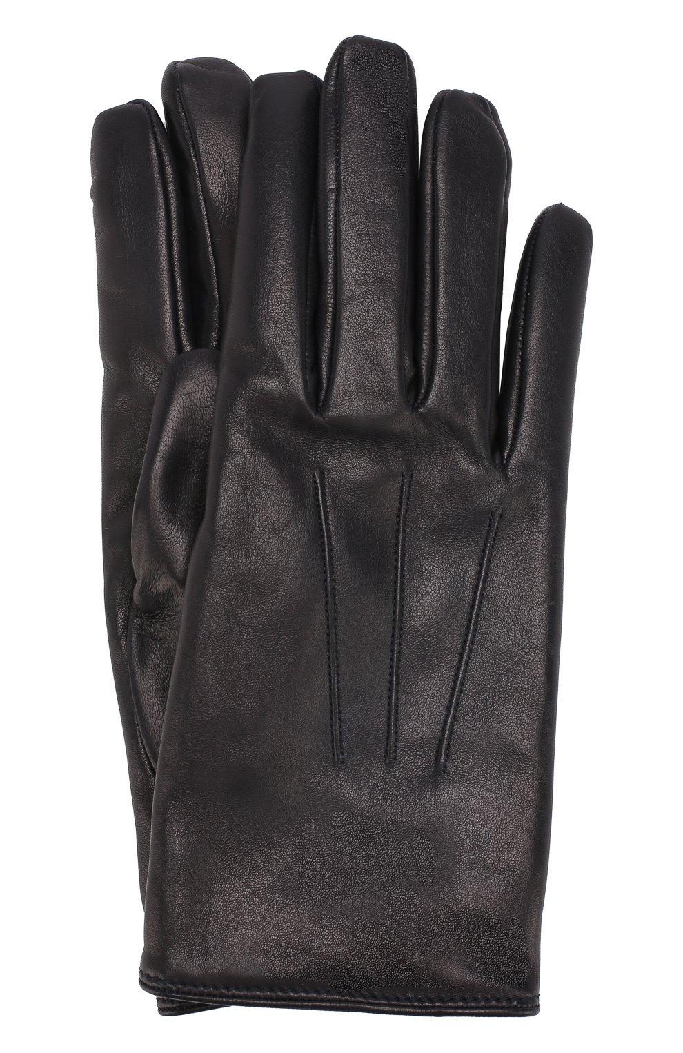Мужские кожаные перчатки BRIONI темно-синего цвета, арт. 05SD0L/07766 | Фото 1