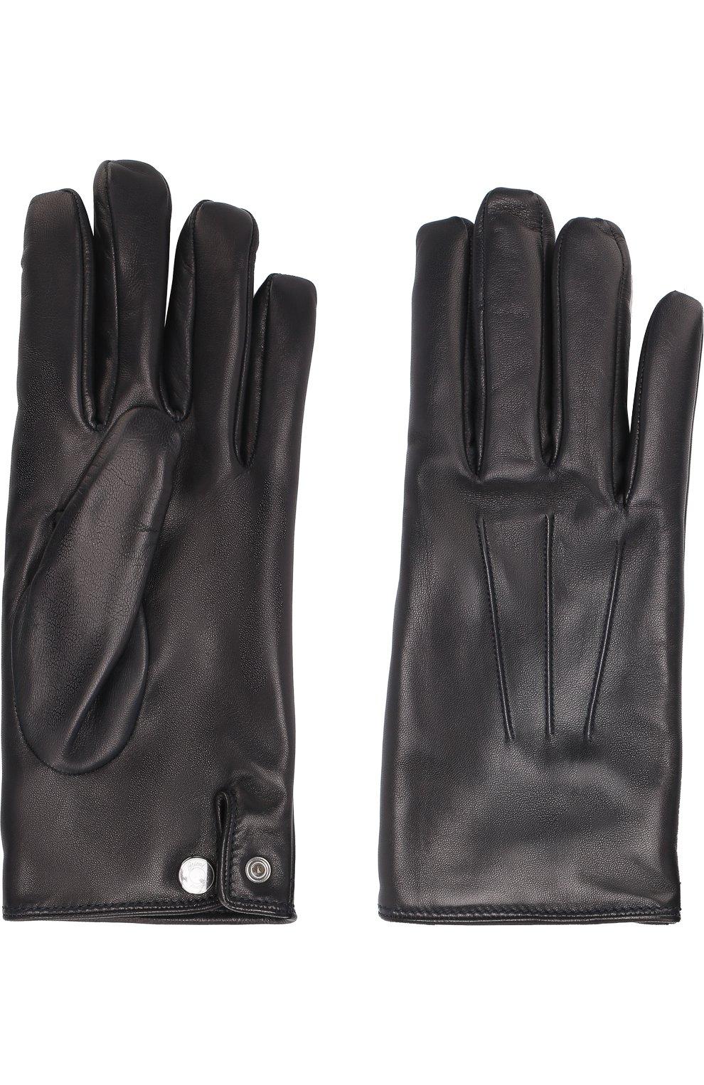 Мужские кожаные перчатки BRIONI темно-синего цвета, арт. 05SD0L/07766 | Фото 2