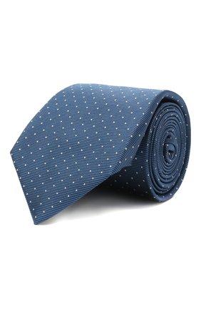 Мужской шелковый галстук ZILLI синего цвета, арт. 50000/TIE   Фото 1