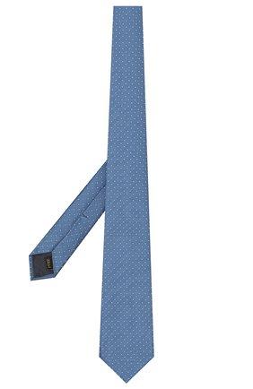 Мужской шелковый галстук ZILLI синего цвета, арт. 50000/TIE   Фото 2