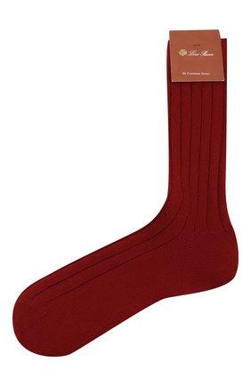 Женские кашемировые носки LORO PIANA красного цвета, арт. FAF8553 | Фото 1