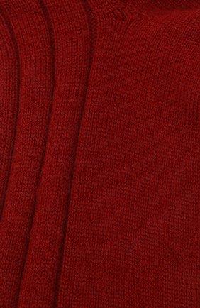 Женские кашемировые носки LORO PIANA красного цвета, арт. FAF8553 | Фото 2