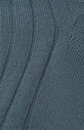 Женские кашемировые носки LORO PIANA голубого цвета, арт. FAF8553 | Фото 2