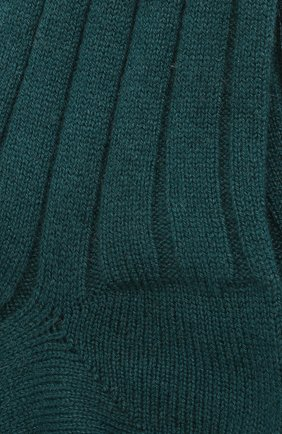 Женские кашемировые носки LORO PIANA зеленого цвета, арт. FAF8553 | Фото 2