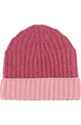 Кашемировая шапка с контрастным отворотом | Фото №1