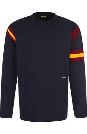 Хлопковый пуловер с логотипом бренда CALVIN KLEIN 205W39NYC синяя | Фото №1