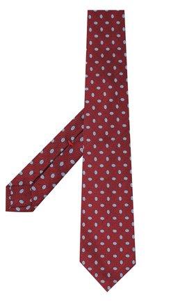 Шелковый галстук с узором Isaia синего цвета | Фото №1