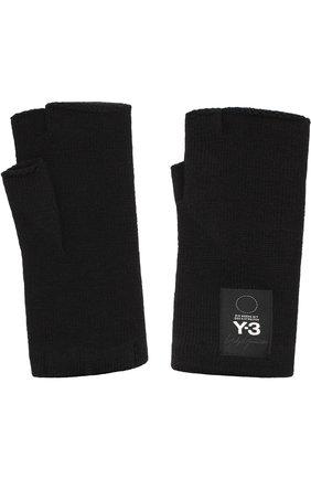 Шерстяные перчатки Y-3 черные | Фото №1