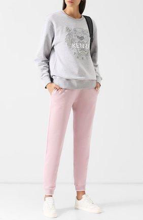Хлопковые джоггеры с логотипом бренда Kenzo розовые | Фото №1