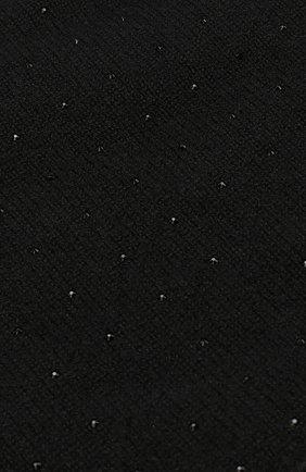 Кашемировая шапка бини с отделкой стразами William Sharp черного цвета | Фото №3