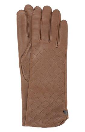 Кожаные перчатки с прострочкой | Фото №1