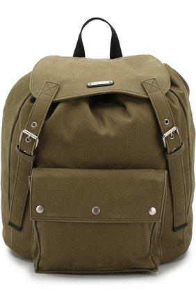 Текстильный рюкзак с накладным карманом | Фото №1