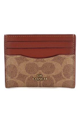 Женский футляр для кредитных карт COACH коричневого цвета, арт. 31541 | Фото 1