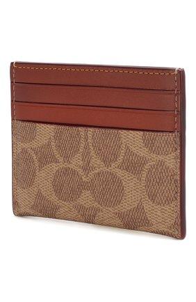 Женский футляр для кредитных карт COACH коричневого цвета, арт. 31541 | Фото 2