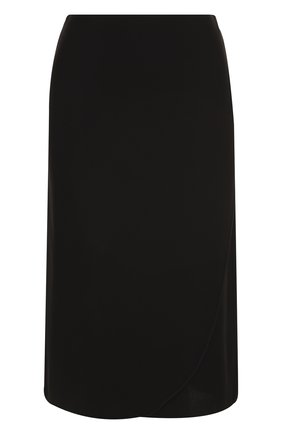 Однотонная юбка-миди из шелка | Фото №1